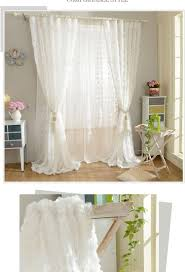 Short Curtains In Living Room New Korean Roses Curtains 3d Curtain Romantic Style Short