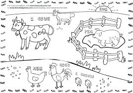 animal coloring worksheets 2. Brilliant Worksheets Farm Coloring Pages Pdf Related Post Animal To Worksheets 2