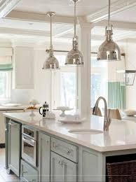 innovative chrome island pendant lights create an interior design