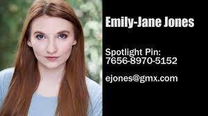 Showreel: Emily-Jane Jones - YouTube