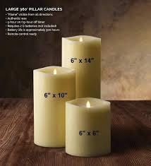 luminara wax candles moving wick wax candle by 5 inch pillar ivory gki bethlehem lighting luminara
