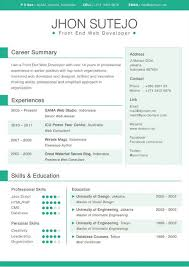 Gallery Of 14 Awesome Adobe Illustrator Resume Template Resume