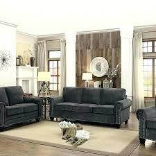 Room Furniture Set Dark Grey Living  Gray Front T25