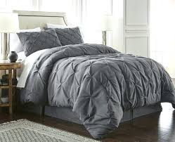 collection 3 piece duvet cover set queen gray pleated dkny city pleat king