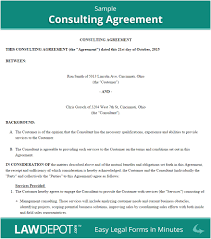 Sample Of Service Contract Agreement With A Consultant ...