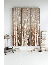 metal birch tree wall art
