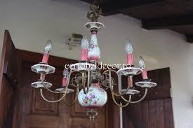 old porcelain chandelier