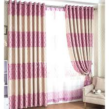 pink bedroom curtains
