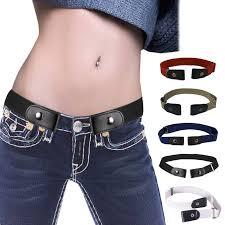 Invisible Lazy <b>Buckle Free Elastic</b> Waist Belt Stretchy Women Men ...