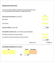 Check Reconciliation Template Bank Reconciliation Template 11 Free Excel Pdf Documents