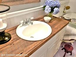 wood bathroom countertop reclaimed wood wood bathroom countertop organizer