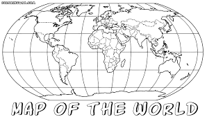 Small Picture Coloring Page Of World Map Coloring Home
