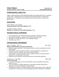 Objective Resumes Resume Entry Level Samples Examples Example Format