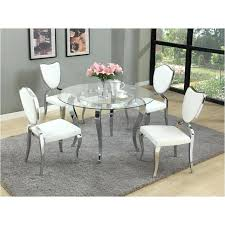 round black glass dining table and chairs t imports furniture dining room dinette table coco round