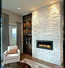 stone tile fireplace stacked tiles veneer ideas installing over fir