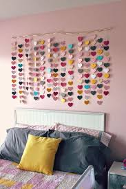 paper punch wall art with hearts