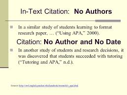 Apa Format Quotes Amazing Apa Format In Text Citation Journal No Author In Text Apa Citation