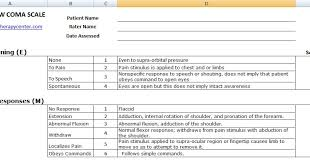 Excel Spreadsheets Help Glasgow Coma Scale Chart