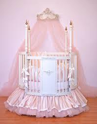Amazing White Round Crib 114 Little Miss Liberty White Round Crib Round  Baby Crib Bedding