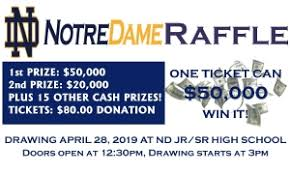 Raffle Drawing Party Notre Dame Schools