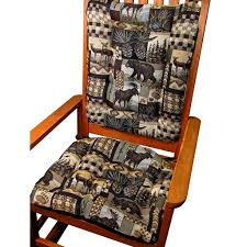 chair cushions. woodlands peters cabin rocking chair cushions - latex foam fill rustic lodge