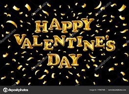 Vector Valentijnsdag Gouden Ballon Banner Met Gouden Glitter