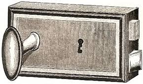 french type of door lock manufactured by låsbolaget in 1898