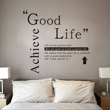 Life Quote Wall Stickers Good life quote wall decals vinyl stickers home decor creative mural 73