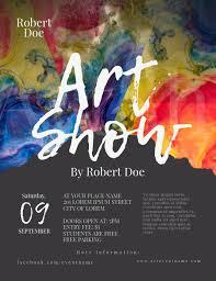 Art Event Flyer Art Show Flyer Template Postermywall