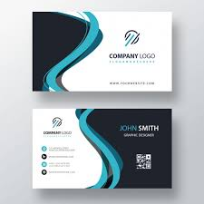 Shape Download Psd Template Free Card File Business Abstract Blue
