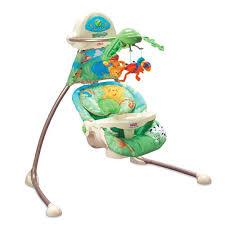 Amazon.com : Fisher-Price Cradle 'n Swing - Rainforest : Stationary ...