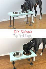 diy raised dog feeder how to make raised dog food bowls with industrial style legs