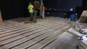stage floor installation