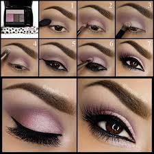 pink and grey smokey eye makeup tutorial