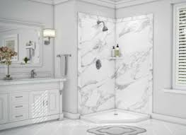 decorative faux stone custom shower wall panels can be combined with