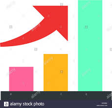 Investment Style Chart Bar Chart Icon In Flat Color Style Finance Report Banking