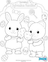 The Sylvanian Families Celebrate Easter Coloring
