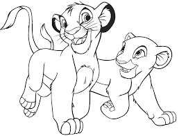 Small Picture Lion King Coloring Pages Cub Simba Nala Pinterest Lions