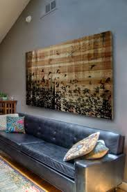 wooden american flag wall art