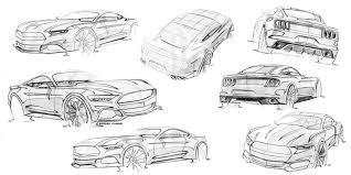 Mustang Designer Ford Mustang Design Sketches By Kemal Curic Car Design