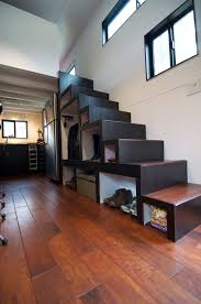 Small Picture Elegant Minimalist Tiny House On Wheels With Staircase