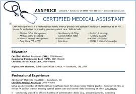medical resume medical assistant resume samples