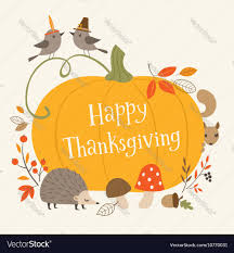 Happy Thanksgiving Greeting Card Royalty Free Vector Image