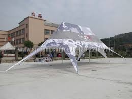 colorful aluminum double star tent for garden sun shade
