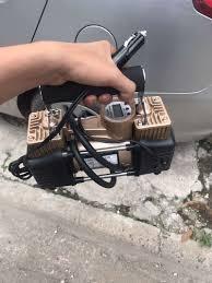 bơm ô tô 2 xi lanh, máy bơm hơi mini dành cho xe ô tô, bơm ô tô 12v, bơm  lốp ô tô điện tử b-139025 - buonphukiendt.com