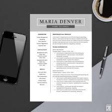Top Resume Template For Ms Word Minimal Resume Design Teacher Cv Template Design Best Modern Cv Instant Download A4 Maria
