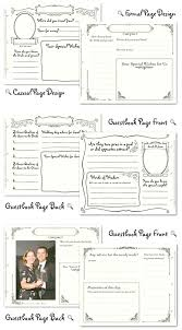 free guest book page template wedding guest book pages page design from wedding prediction or wedding memories free printable guest book page template