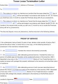 30 day termination letters free texas 30 day notice to quit month to month tenancy pdf