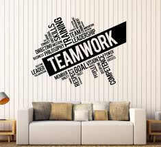 wall decal for office. Vinyl Decals Words Teamwork Ig X Lovely Wall Decal Office Wall Decal For Office F