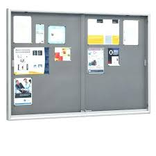 glass bulletin board sliding glass bulletin board